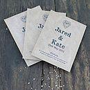 Kraft Romantic Scented Sachet Wedding Favour