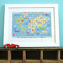 Personalised Childrens Map Of The World Print