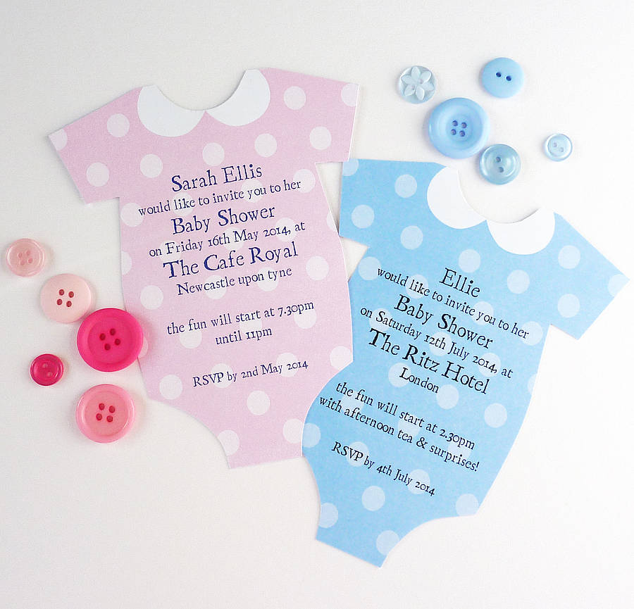 Personalised Baby Shower Invitation By Little Cherub Design