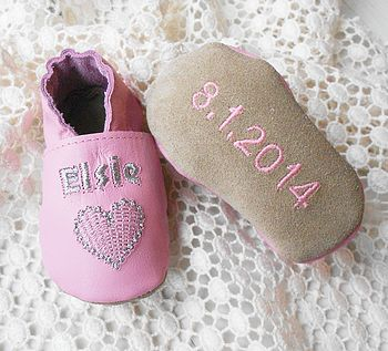 Personalised Sweet Heart Baby Shoes