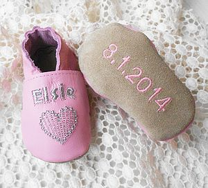 Personalised Sweet Heart Baby Shoes - shoes & footwear
