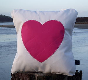 Heart Sailcloth Cushion - children's room