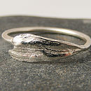 Silver Textured Daisy Petal Ring