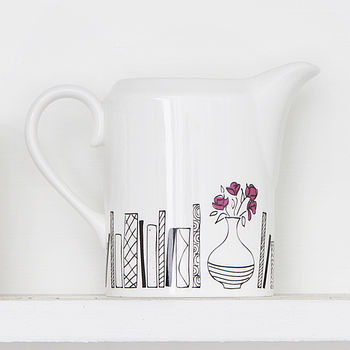 Books And Flowers Jug