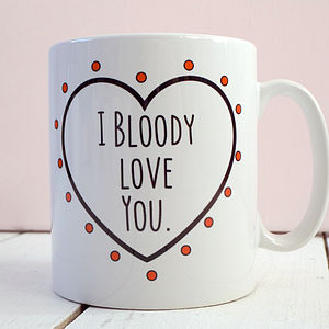 'Bloody Love You' Romantic Valentine's Day Mug - tableware