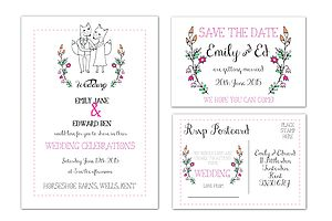 'Foxy' Wedding Stationery Range - invitations
