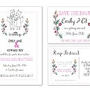 'Foxy' Wedding Invitation