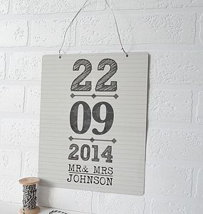 Personalised Mr And Mrs Metal Sign - room signs