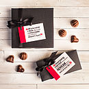 Personalised Romantic Box Of Chocolates