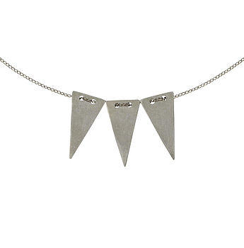 Small Triangle Trio Necklace