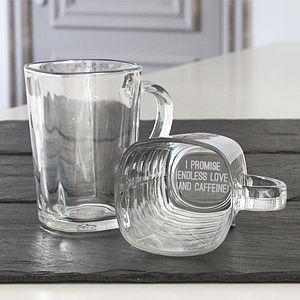 'I Promise' Personalised Glass Mug - mugs