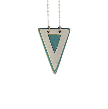 Layered Cut Out Triangle Necklace