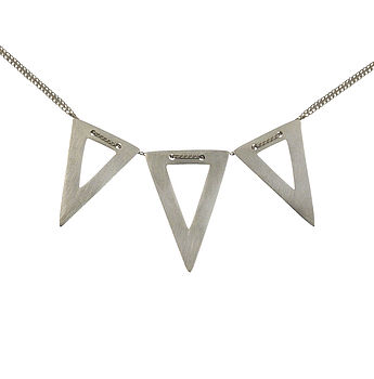 Large Triangle Trio Necklace