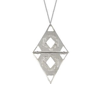 Double Navajo Triangle Necklace