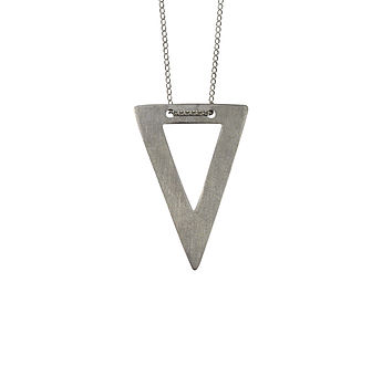 Cut Out Triangle Necklace