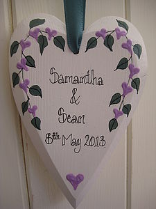 Hand Painted Anniversary Heart - hanging decorations