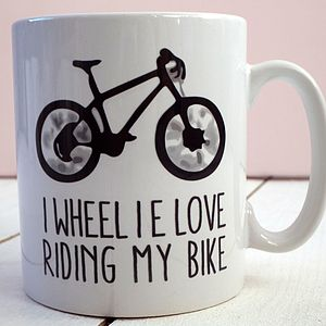 'I Wheelie Love Riding My Bike' Mug - kitchen