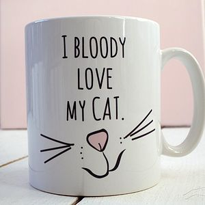 'Love My Cat' Ceramic Mug - dining room