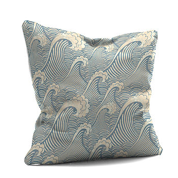 'Blue Wave Cushion