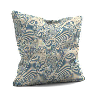 'Blue Wave Cushion - cushions