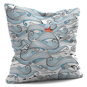 'Riding The Waves' Cushion - cushions