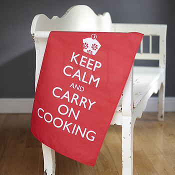 'Keep Calm and Carry on Cooking' Tea Towel