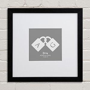 Personalised Padlocks Art Print