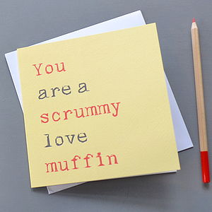 'Scrummy Love Muffin' Card - shop by occasion
