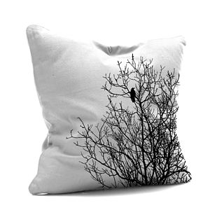 Black And White Tree Cushion - cushions
