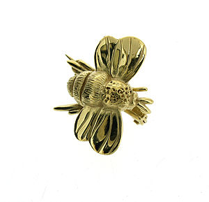Gold Vermeil Bumble Bee Brooch - pins & brooches