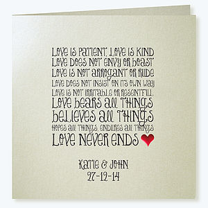 'Love Is Patient' Wedding Invitations
