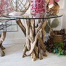 Small Natural Driftwood Round Dining Table