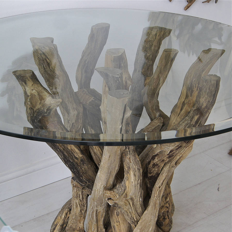 small natural driftwood round dining table by karen miller  : originalsmall natural driftwood round dining table from www.notonthehighstreet.com size 900 x 900 jpeg 106kB