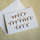Personalised Semaphore Flags Birthday Card