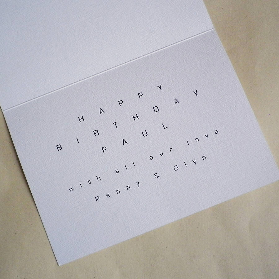 Personalised Inside Card Message