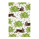 Rabbit And Cabbage Tea Towel