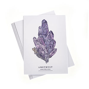 Amethyst A6 Postcard With Stickers