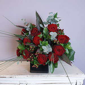 Dozen Red Roses - fresh flowers
