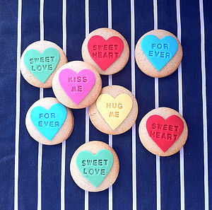 Love Heart Sweetie Style Cookies - brand new sellers