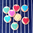 Ten Love Heart Sweetie Style Cookies