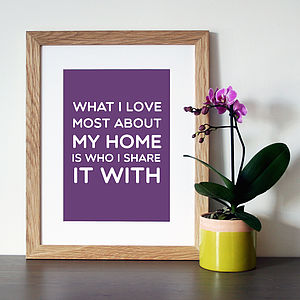 'My Home' Family Quote Print - paintings & canvases
