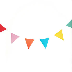 Paper Party Bunting - outdoor decorations
