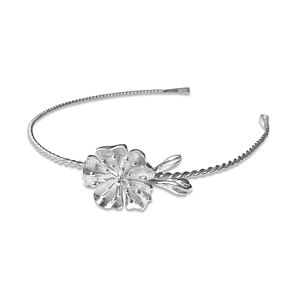 Silver Julieta Floral Bridal Tiara Small - women's jewellery