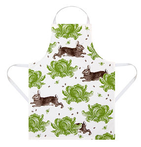 Rabbit And Cabbage Apron - aprons