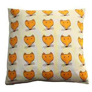 Fox Face Cushion - decorative accessories