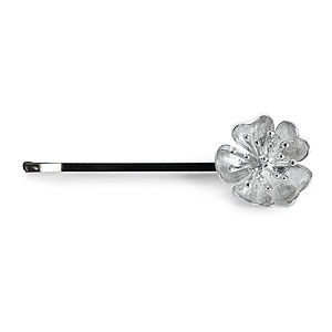 Silver Julieta Floral Hair Slide Medium - tiaras & hair combs