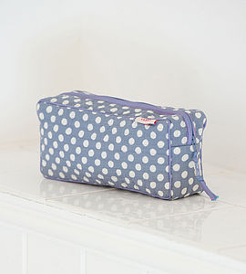 Clutch Makeup Bag In Pink Spotty Dotty Print