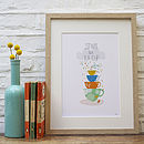 'Storm In A Tea Cup' Illustrated Print
