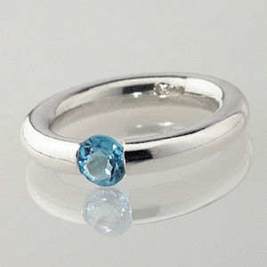 Plain Gem Set Tension Ring - rings