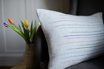 Chalkney Woven Cushion Cover   Grey